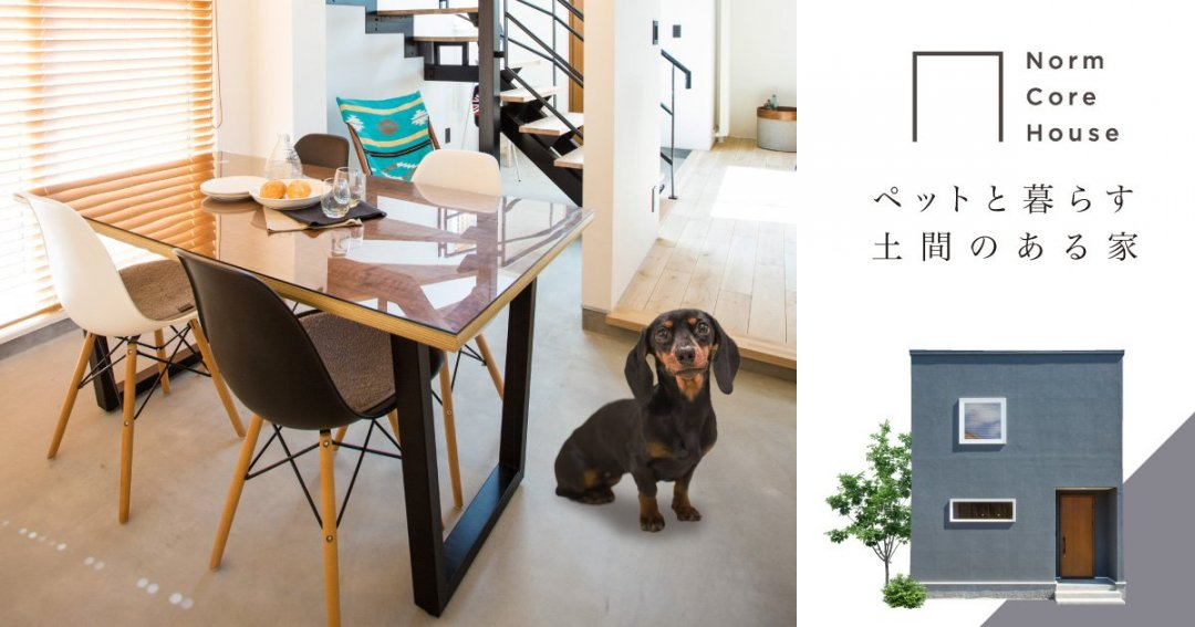 ペットと暮らす土間のある家-予約制オープンハウス